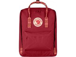Рюкзак Fjallraven Kanken Deep Red-Folk Pattern (Classic)