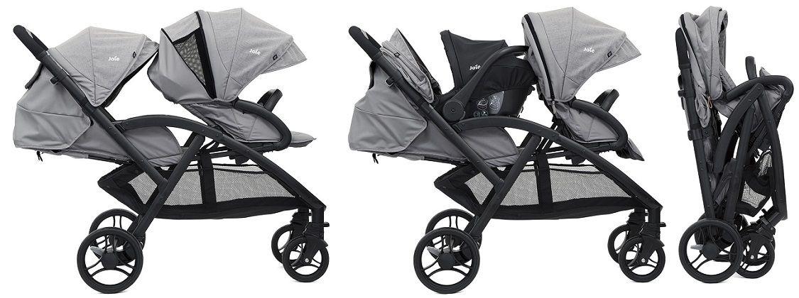 Joie Evalite Duo — удобная, функциональная и вместительная прогулочная коляска для двойни