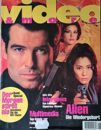Video And More Magazine May 1997 Pierce Brosnan, Kim,  Иностранные журналы о кино, Intpressshop