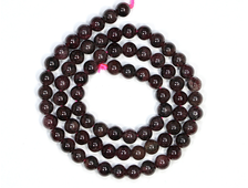Бусины Гранат, шар 5,5-6 мм, цена за 1 нить около 39 см, 74 шт (вес 25 г) №19020