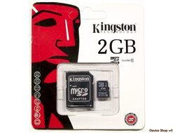 Флешка Kingston Class 10 2 GB + ADAPTER