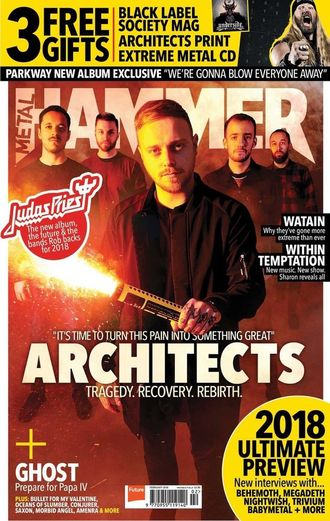 METAL HAMMER UK Magazine February 2018 Architects, Black Label Society Cover, Intpressshop