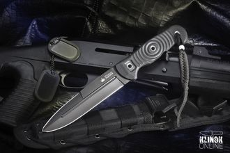 Нож Legion AUS-8 Black Titanium