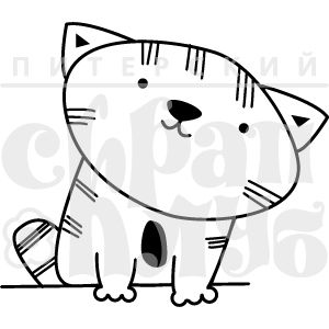 Штамп для скрапбукинга с котом