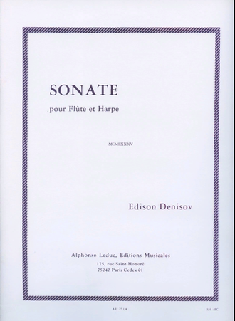 Denisov Sonata for Flute and Harp