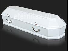 Гроб деревянный лакированный Милан Белый
