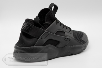 Кроссовки Nike Air Huarache Ultra All Black мужские арт. N105 side