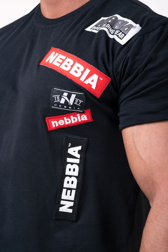 Футболка NEBBIA Labels T-shirt 171 Черная