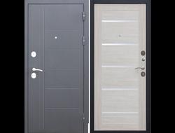 Входная дверь 100 мм Троя Серебро Лиственница беж