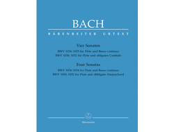 Bach J.S.Four  Sonatas for Flute and Basso Continuo / Obligato Harpsichord (BWV 1030, 1032, 1034, 1035)