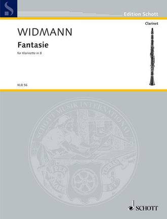 Widmann, J: Fantasie for Clarinet solo