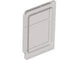 Glass for Train Door with Lip on Top and Bottom, Trans-Black (4183 / 6040301)