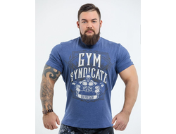 "Футболка DICH: Classic T-Shirt Blue Melanje ""Gym Syndicate"""