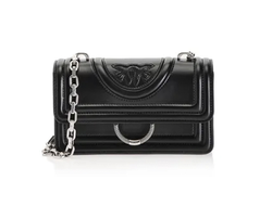 PINKO MINI LOVE BAG NEW MONOGRAM ИЗ КОЖИ НАППА