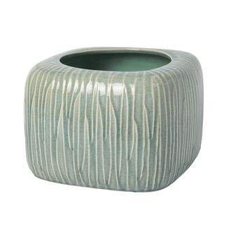 Цветочное кашпо SIA REED FLOWER POT LARGE , 280191 , H18.5/W27/L27