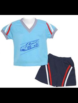 Комплект для мальчика (Артикул 2136-022) цвет голубой