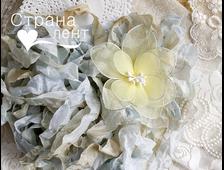 Шебби-лента цвет Старинный голубой, 2 метра