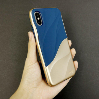 Чехол на Apple iPhone X, Ringke серия Wave, цвет пурпурный (Metallic Purple)
