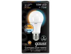 Gauss LED A60 10w 827/840 CTC E27