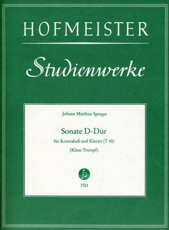 Sperger: Sonate D-Dur for Double Bass