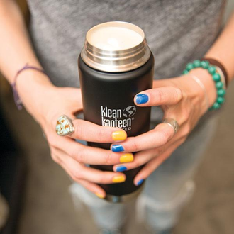 Термокружка Klean Kanteen Insulated Wide Cafe Cap 20oz (592 мл) Shale Black