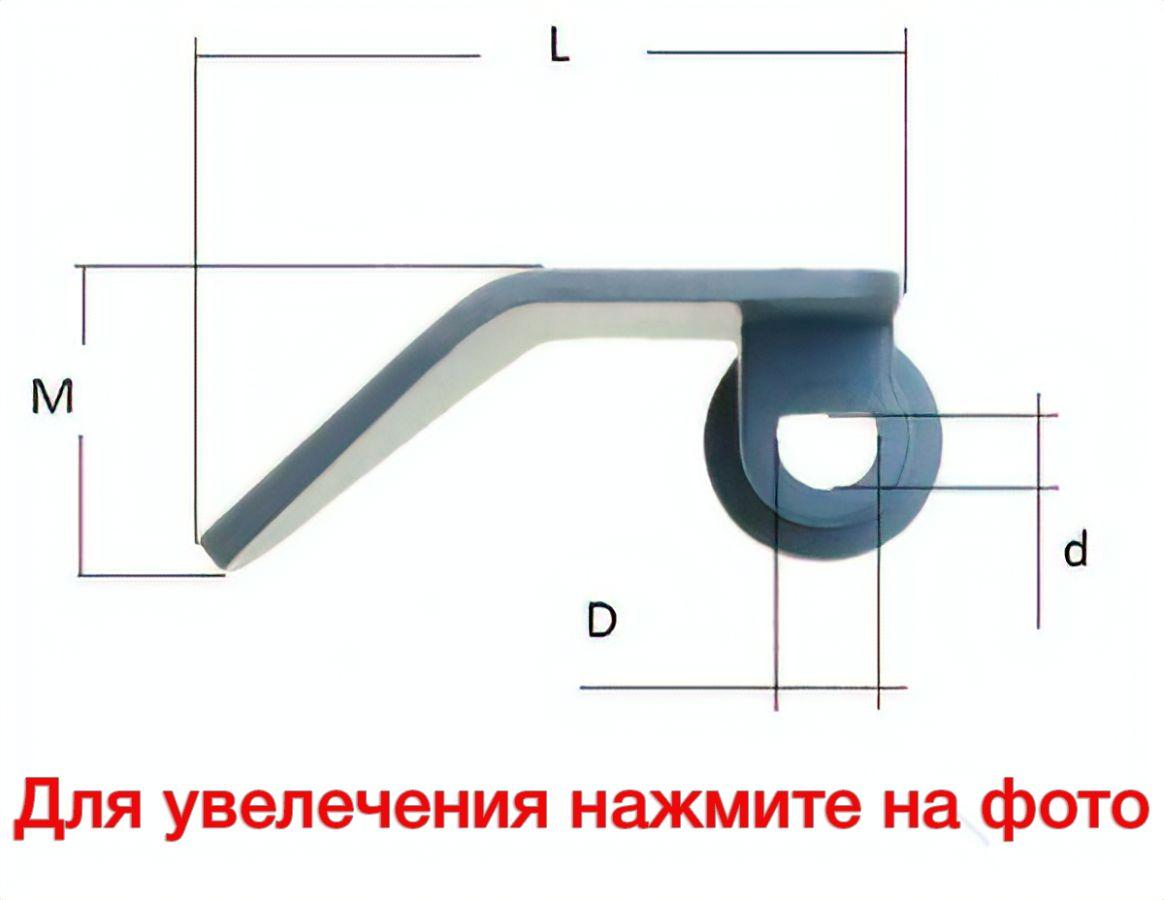 Схема размеров лопатки для хлебопечки