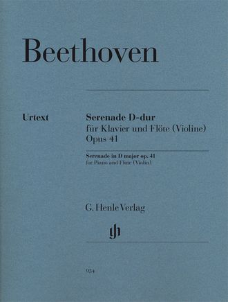 Beethoven Serenade op. 41 for Piano and Flute (Violin)