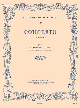 Glazounov: Concerto In E Flat For Saxophone And Orchestra Op.109