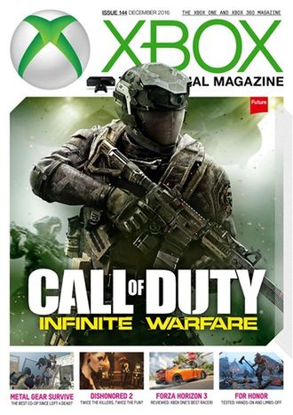XBOX OFFICIAL Magazine December 2016 Call Of Duty Cover ИНОСТРАННЫЕ ИГРОВЫЕ ЖУРНАЛЫ, INTPRESSSHOP