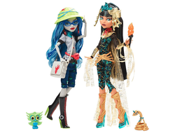 Монстер Хай куклы Гулия Йелпс и Клео де Нил. Эксклюзив Comic-Con 2017 / Monster High Exclusives SDCC Cleo De Nile and Ghoulia Yelps 2-Pack Comic Con Exclusive Mattel
