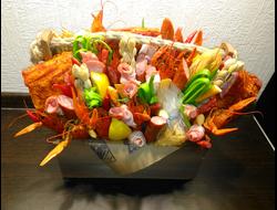 Букет из колбасы для мужчины купить в челябинске, сочи букет 101 розы киев цена