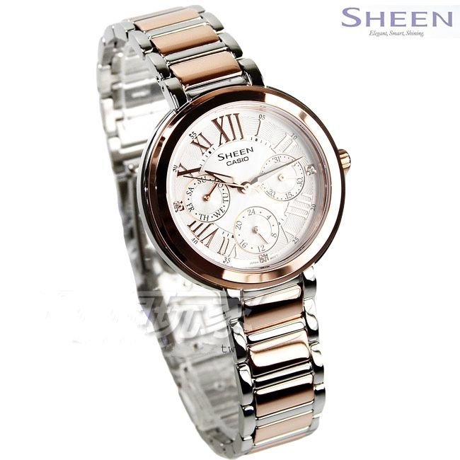 c0e6019cf42f Женские японские наручные часы Casio Sheen SHE-3034SPG-7A купить в ...