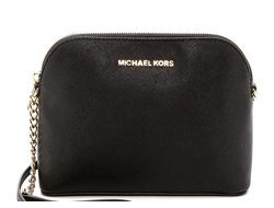 Сумка Michael Kors Cindy Large Dome Crossbody (Чёрная)
