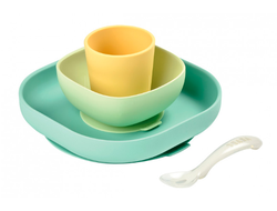 Набор посуды Beaba Silicine Meal Set желтый