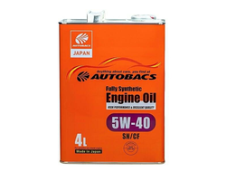 Масло моторное AUTOBACS ENGINE OIL FS 5W-40 4л A01508404