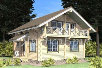 дом из бруса - проект № 12