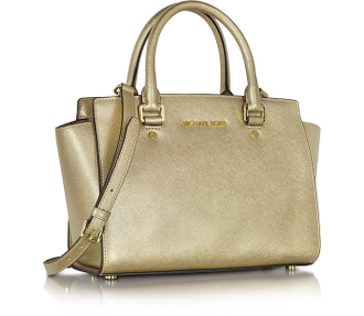 Сумка Michael Kors Selma Large (Золотая)