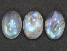 Кабошон Лунный камень (Адуляр), овал, в ассортименте, Индия (14*10*5-6 мм, вес: 1,4 г) №15152
