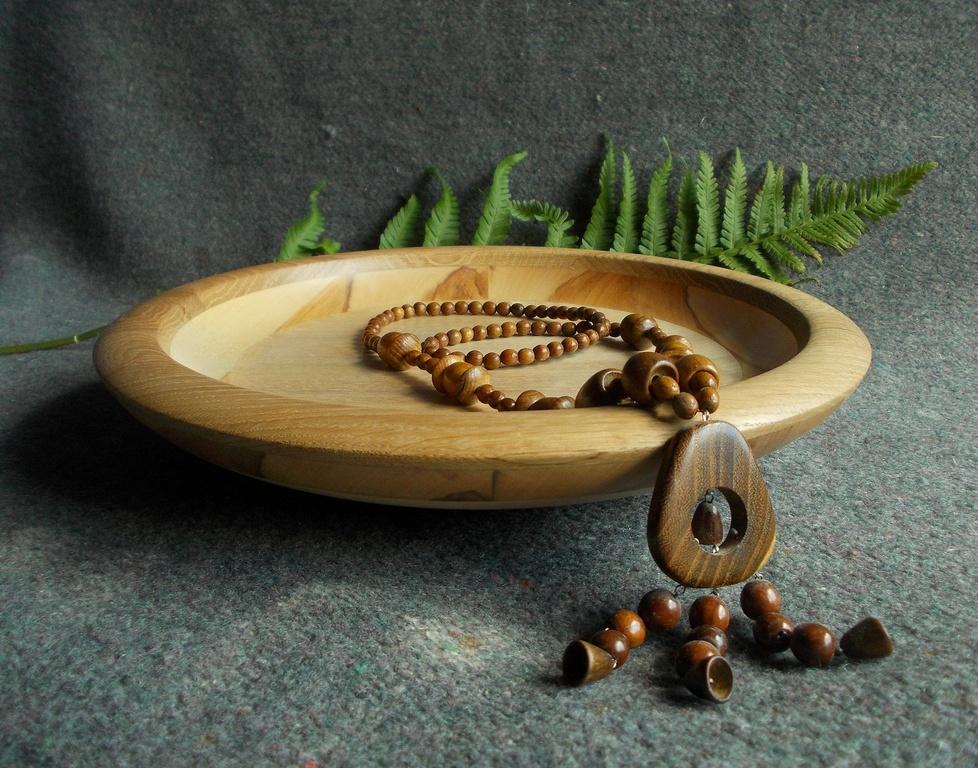 Деревянная фруктовница, блюдо для фруктов из дерева, Великая Кракотка, декоративная посуда
