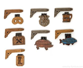 Medieval shop signs (painted)