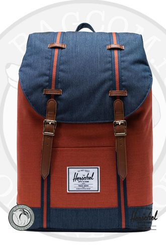 Herschel Retreat Indigo Denim/Picante Crosshatch/Tan в магазине Bagcom