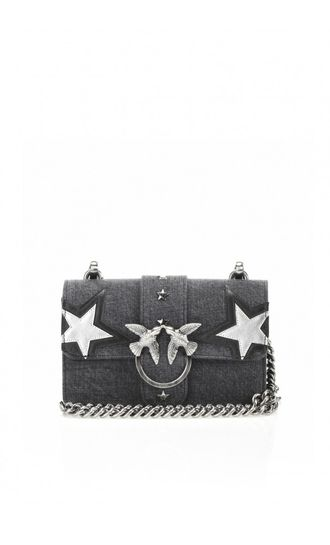 Pinko Love Mini Bag Denim