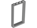 Door, Frame 1 x 4 x 6 with Two Holes on Top and Bottom, Light Bluish Gray (60596 / 6064030 / 6262961)