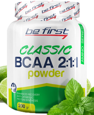 BCAA 2:1:1 Classic Powder Be First 200 г (Мята Лайм)