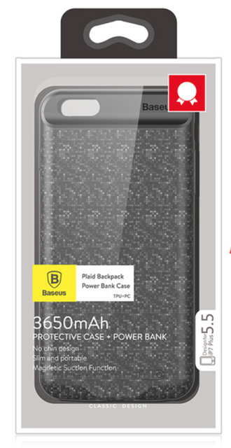 Baseus iPhone 7/8 Plus Powerbank Case - черный