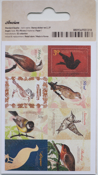 "Наклейки ""Lovely Stamps. Bird"""