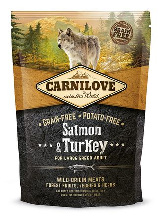 Сухой корм для собак Carnilove Salmon & Turkey for Large breed adult dogs, 1,5 кг