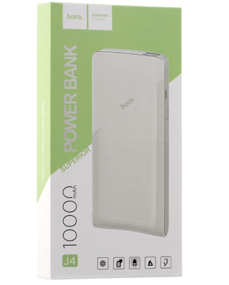 Power Bank Hoco 2USB J4 (10000mah) Белый