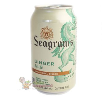 Seagram Ginger Ale, имбирный эль безалкагольный, 335 мл.
