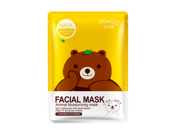 Маска для лица Bioaqua Fasial Animal Mask (Медведь), BQY8487